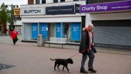 Britischer Einzelhandel bricht ein