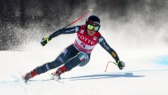 Die italienische Skirennfahrer Sofia Goggia bei der Abfahrt in Südkorea