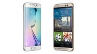HTC One und Samsung S6 Edge