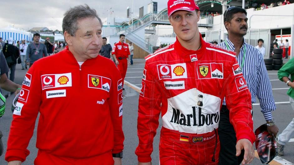 Michael Schumacher 2006 mit seinem damaligen Teamchef Jean Todt