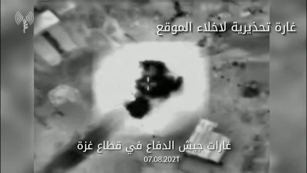 Israel greift Hamas-Raketenabschussbasis an