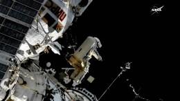 Antenne erfolgreich an ISS montiert