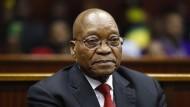 Jacob Zuma trat wegen Korruptionsvorwürfen als Präsident Südafrikas zurück