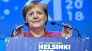 Der neue Beifall für Angela Merkel