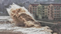 Chinesischer Taifun löst Erdrutsch aus: 13 Tote