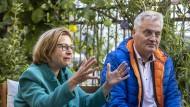 Die gescheiterten Wahlkreiskandidaten Bettina Wiesmann und Axel Kaufmann