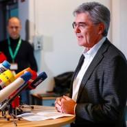 Siemens-Chef Joe Kaeser auf einer Konferenz mit Klimaaktivisten in Berlin.