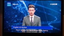 Nachrichtensprecher mit künstlicher Intelligenz