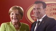 Angela Merkel mit dem mazedonischen Ministerpräsidenten Zoran Zaev
