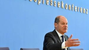 Scholz kündigt Schnellkredite für Mittelständler an