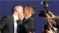 Sie sind jetzt Mann und Mann: Vincent Autin (l.) und Bruno Boileau