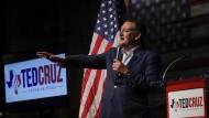 Ted Cruz Anfang April auf einer Wahlkampfveranstaltung in Stafford, Texas: Geht der Stern des republikanischen Senators unter?