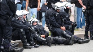 Offenbar deutlich weniger verletzte Polizisten nach G-20-Gipfel