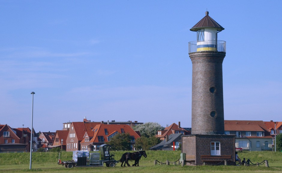 Pferdewagen auf Juist: die Insel ist seit jeher autofrei.