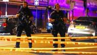 Sicherheitskräfte in Finsbury Park