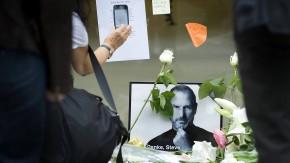 Trauer  um Steve Jobs in Frankfurt