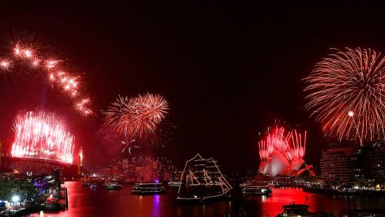 Australier begrüßen das neue Jahr