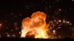 Ukrainisches Munitionsdepot explodiert