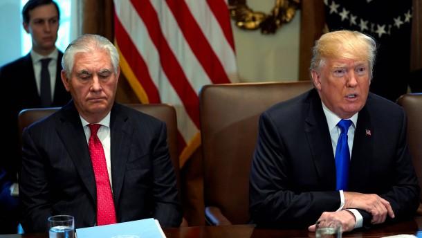 Tillerson: Habe Trumps geistige Fitness nie infrage gestellt