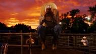 Beten für die Spannung: Rodeo-Reiter in - New Mexico, nicht Texas