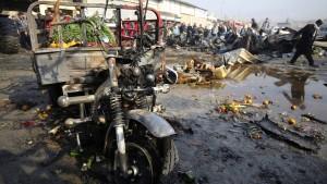 Mindestens acht Tote auf Großmarkt in Bagdad