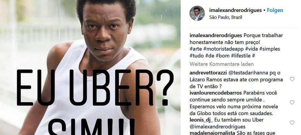 Alexandre Rodrigues City Of God Star Ist Jetzt Uber Fahrer