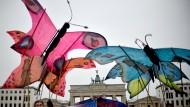 Die Schmetterlinge sollen leben: Protest einer europäischen Bürgerinitiative gegen Glyphosat.
