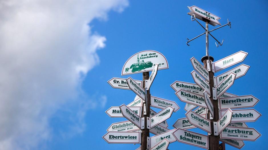 Die Entscheidung, wohin der Weg führen soll, fällt manchmal schwer.