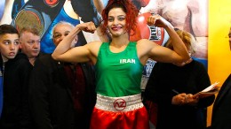 Sie ist Irans erste Boxerin