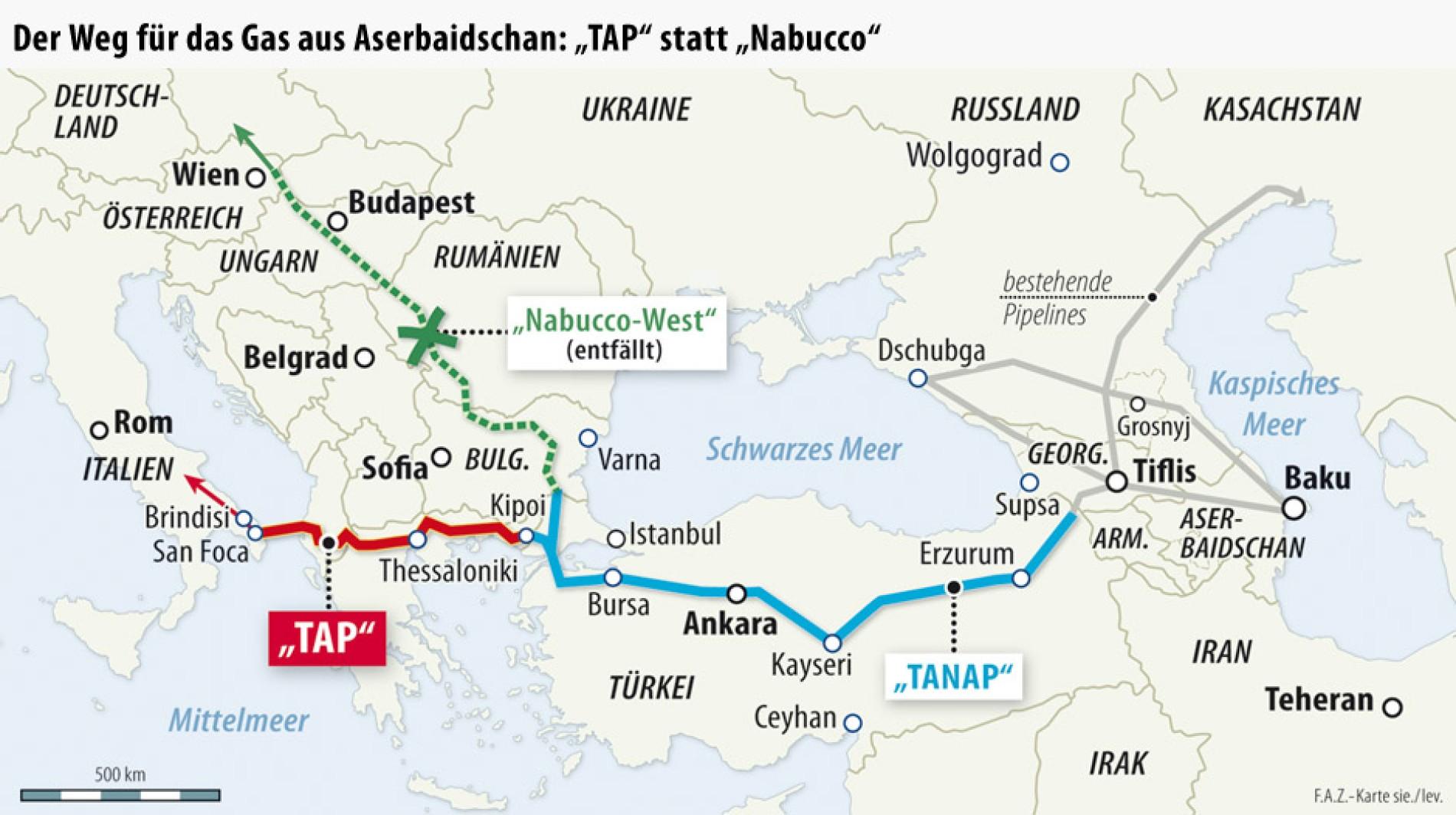 Gaspipeline Projekt Nabucco Ist Gescheitert Wirtschaft Faz
