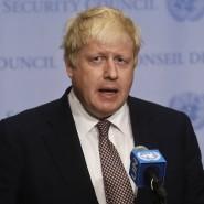 Der britische Außenminister Boris Johnson bei seinem Antrittsbesuch im Hauptquartier der Vereinten Nationen am Freitag.