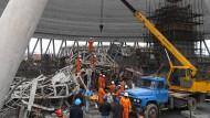 Dutzende Tote bei Baustellenunfall