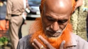 Rote Bärte für Männer in Bangladesch
