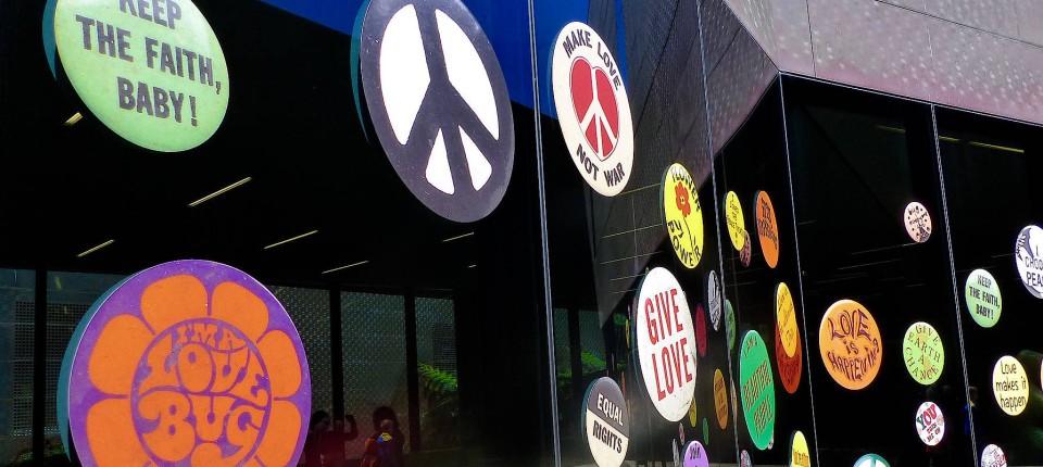 60 Jahre Peace Zeichen Frieden Für Alle Ohne Copyright