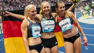 Vier Heimsiege für deutsche Leichtathleten