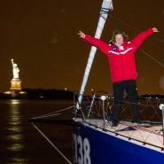 Endlich die Freiheitsstatue im Blick: Anna-Maria Renken hat es über den Atlantik geschafft.