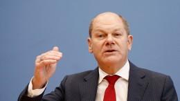 Scholz erwartet eine riesige Finanzlücke