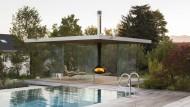 """Für dieses gläserne Luxusgartenzimmer """"360"""" braucht man Geld und ein Grundstück mit perfektem Ausblick nach allen Seiten."""