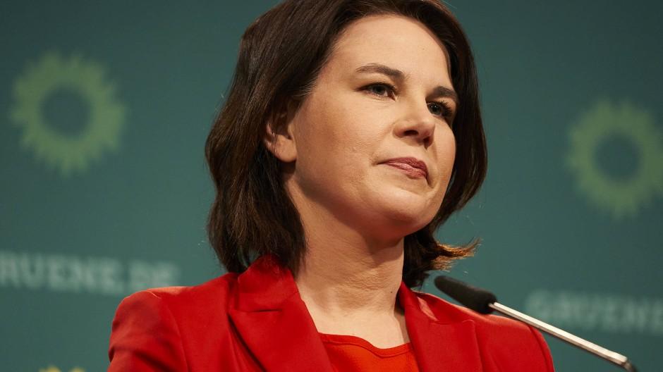 Annalena Baerbock bei einer Pressekonferenz in Berlin am 26. April 2021.
