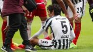 Schmerzhaftes Dienstende: Jesus Vallejo zieht sich gegen Ingolstadt einen Muskelfaserriss zu.