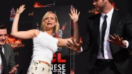 Jennifer Lawrence verewigt  in Beton