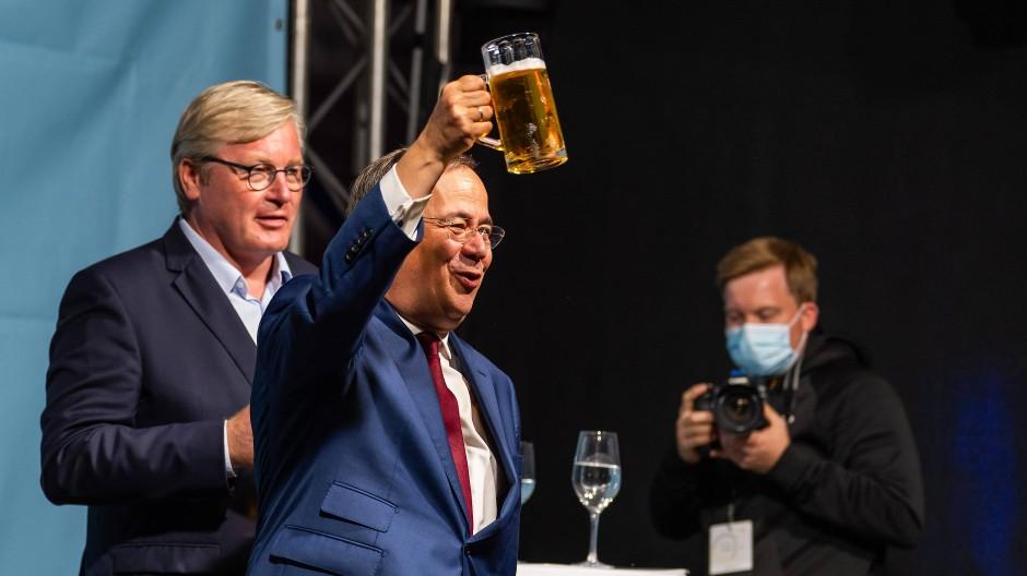 Wahlkampf in Celle: Armin Laschet mit Bernd Althusmann