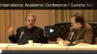 Szene einer Konferenz: David Birnbaum auf dem Podium