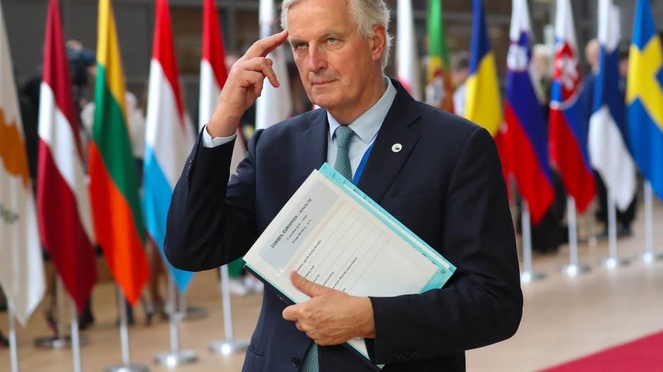 Der Brexit-Chefunterhändler Michael Barnier beim EU-Gipfel am 17. Oktober 2019 in Brüssel.