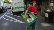 Zustellung: 1500 Kisten liefern Fahrer von Querbeet täglich aus, auch nach Frankfurt gehen die Touren.