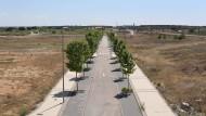 Das blieb vom Investorentraum: einsame Straße in einem geplanten Madrider Wohlviertel, das durch die Krise überflüssig wurde