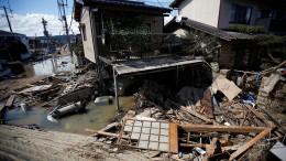 Heftige Regenfälle und Erdrutsche in Japan