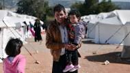Unterkunft in der Nähe Athens: Ein Dichtmachen der Balkanroute könnte dazu führen, dass Flüchtlinge in Griechenland bleiben müssen.