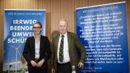 Die AfD-Spitzenkandidaten Alice Weidel und Alexander Gauland bei der Präsentation ihrer umweltpolitischen Ziele.