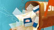 Der virtuelle Briefkasten: voller E-Mails und Spam.
